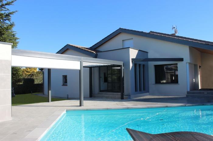 Extension et aménagements paysagers : Extension-maison-pergola--amenagements-paysagers-piscine-Tournefeuille-2