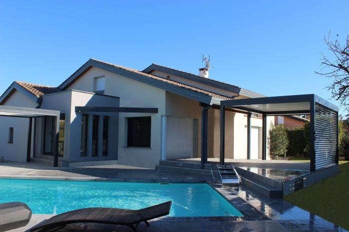 Extension et aménagements paysagers : Extension-maison-pergola--amenagements-paysagers-piscine-Tournefeuille-3