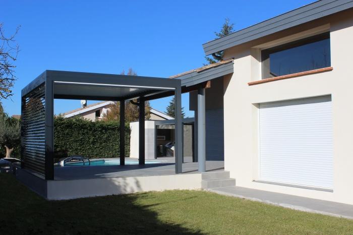 Extension et aménagements paysagers : Extension-maison-pergola--amenagements-paysagers-piscine-Tournefeuille-4