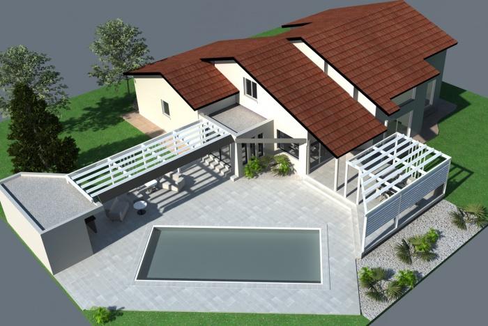 Extension et aménagements paysagers : Extension-maison-pergola--amenagements-paysagers-piscine-Tournefeuille-5