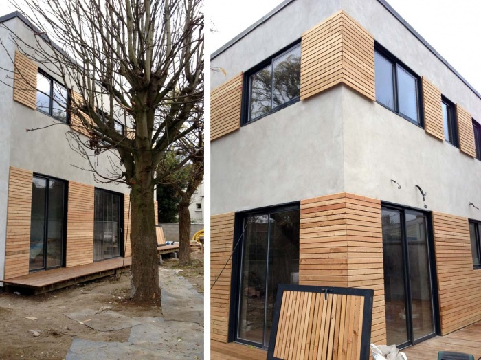 Maison contemporaine en béton : pauline lanier-bagneux-chantier 6a