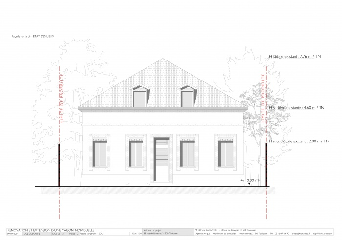 Rénovation maison - Façade sur Jardin  - EDL.jpg