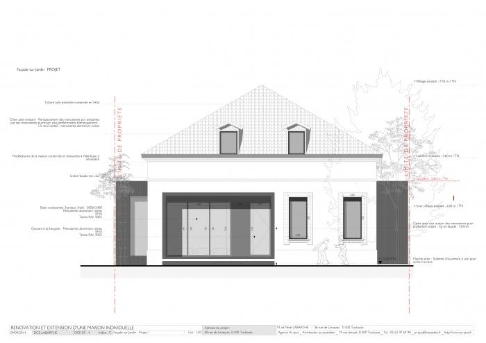 Rénovation maison - Façade sur Jardin - Projet 1.jpg