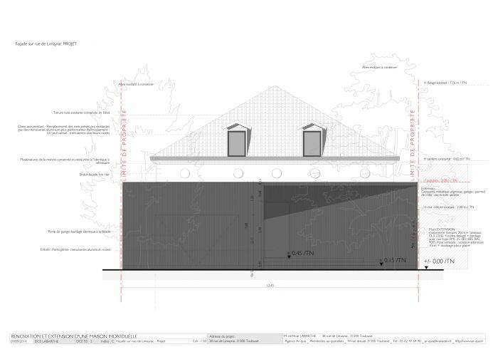 Rénovation maison - Façade sur rue de Limayrac - Projet.jpg
