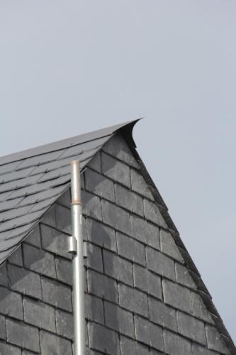 Maison N : détail toiture