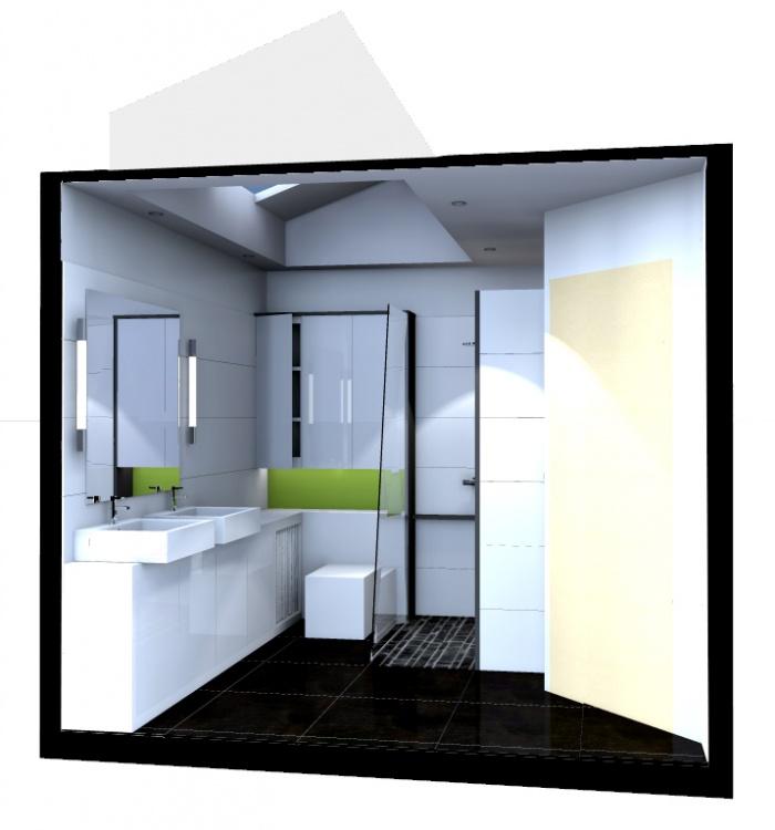 juste une salle de bain : Perspective projet