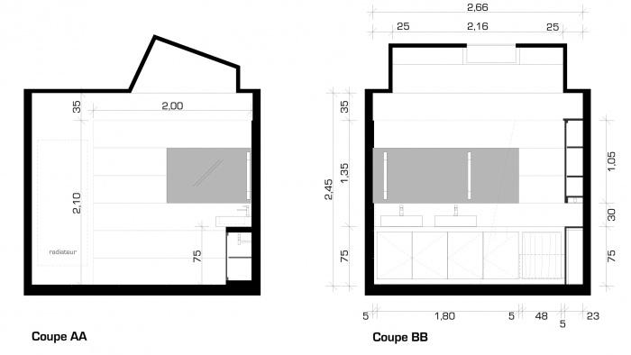juste une salle de bain : Élévations intérieures projet