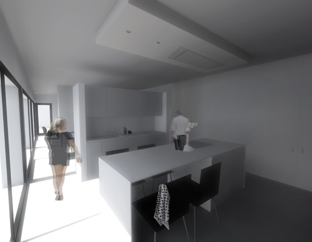 Maison N à Lectoure (32) : Maison N - Vue cuisine