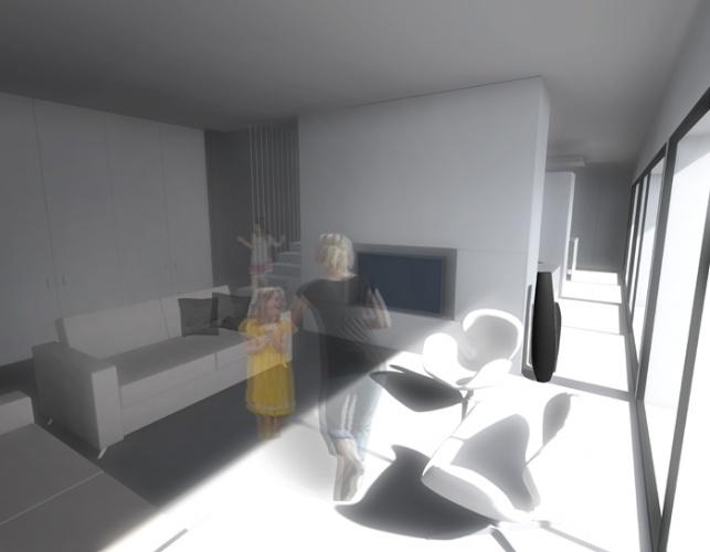 Maison N à Lectoure (32) : Maison N - Vue salon tv
