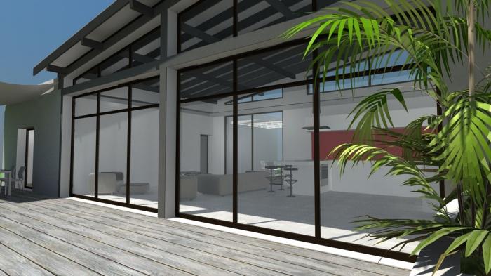 architectes construction d 39 une maison contemporaine toits terrasse et zinc muret. Black Bedroom Furniture Sets. Home Design Ideas