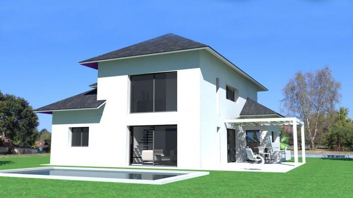 construction d une maison contemporaine dans le style b arnais. Black Bedroom Furniture Sets. Home Design Ideas