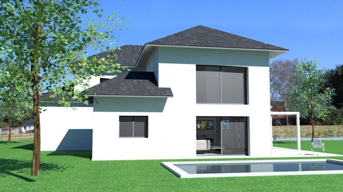 Maison Style Architecte Grande Baie Vitrée : Construction d une maison contemporaine dans le style