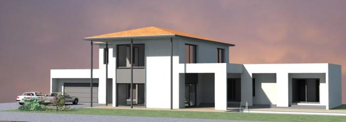 villa contemporaine : 6