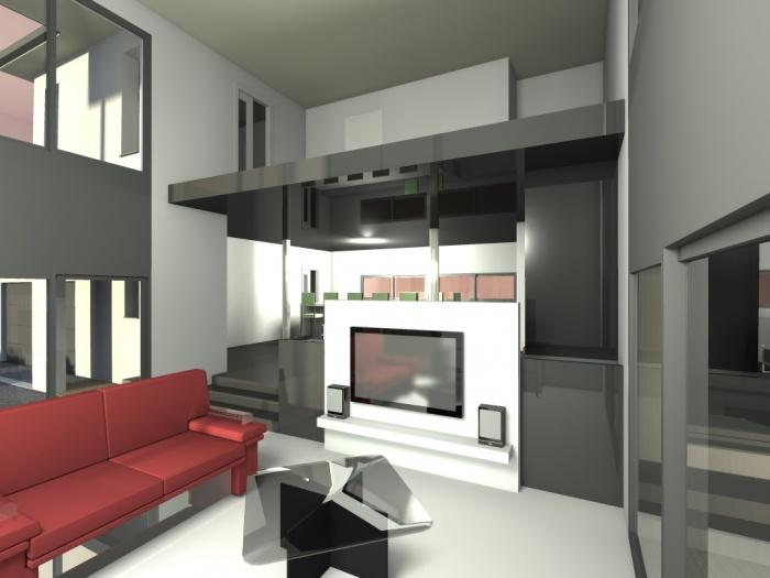villa contemporaine : 3