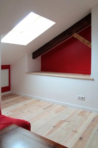 Maison R : mezzanine sur salon