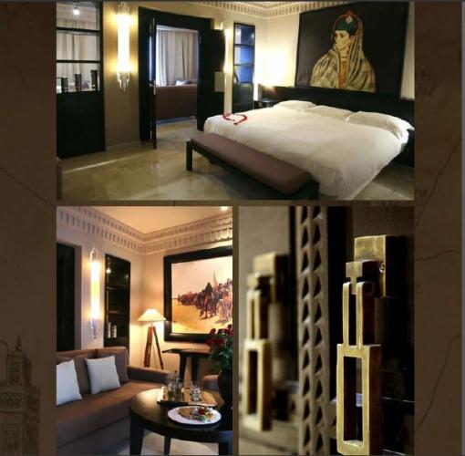 h tel de luxe et spa maroc marrakech une r alisation de sophie bannwart. Black Bedroom Furniture Sets. Home Design Ideas