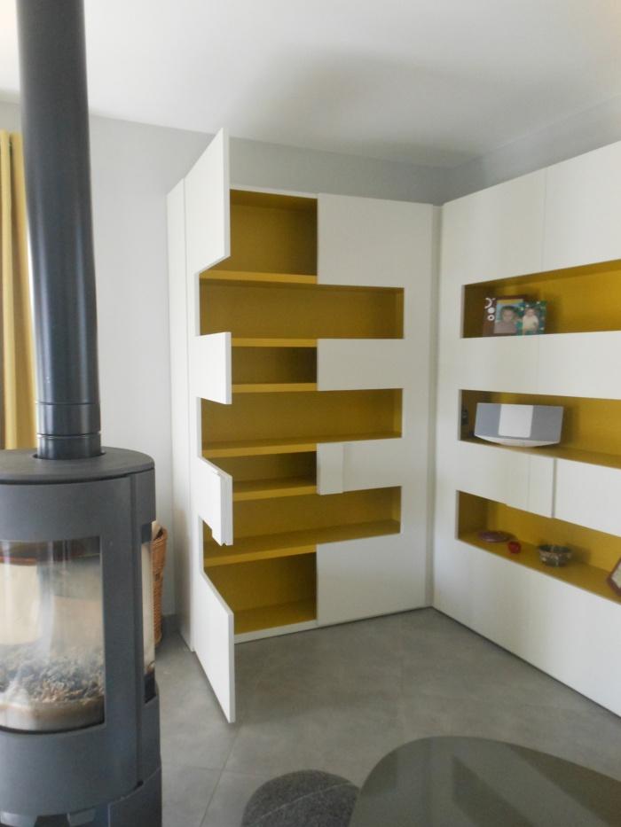 am nagement salon et mobilier sur mesure toulouse une r alisation de sophie bannwart. Black Bedroom Furniture Sets. Home Design Ideas