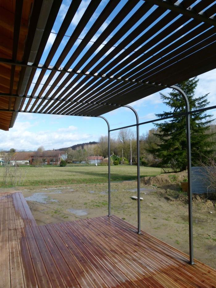 Construction d'une maison ossature bois BBC : Parinaudjpeg10J