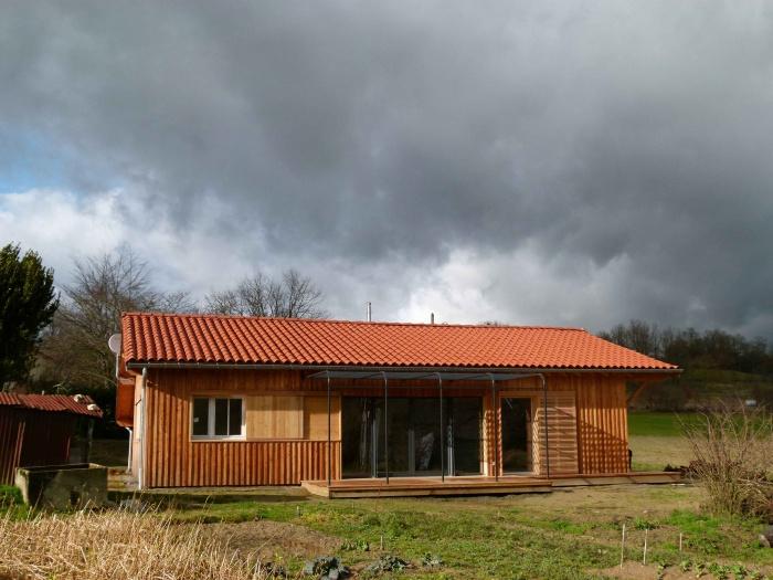 Construction d'une maison ossature bois BBC : Parinaudjpeg12L