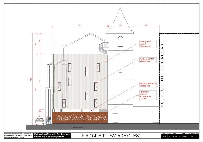 Réhabilitation et extension du centre d'art contemporain La Chapelle St-Jacques : Façade Ouest Chapelle pdf