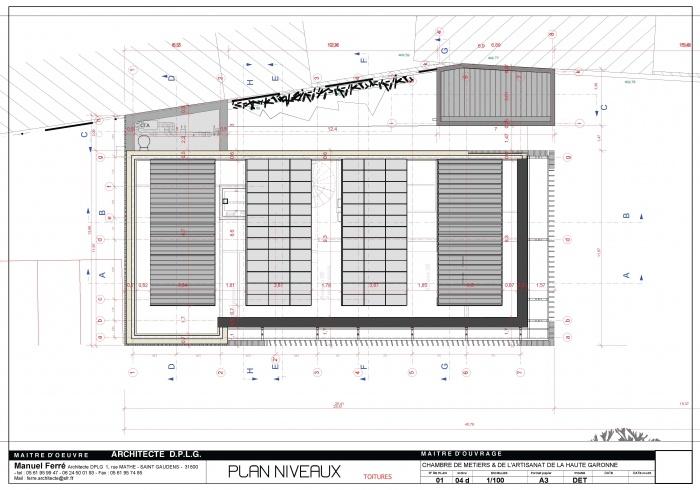 Construction de l'antenne de la Chambre de Métiers et de l'Artisanat Haute Qualité Environnementale : D- 24 R+2_100 [DET]