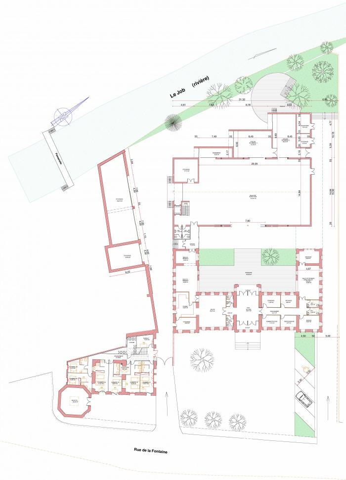 Réhabilitation des thermes d'Encausse en lieu de résidence pour les arts publics : plan N0