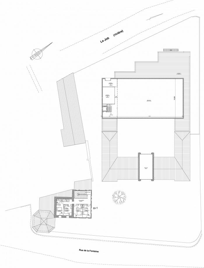 Réhabilitation des thermes d'Encausse en lieu de résidence pour les arts publics : plan N1