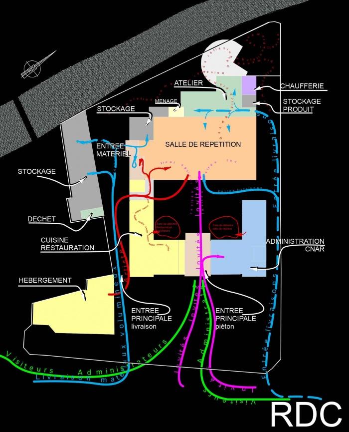 Réhabilitation des thermes d'Encausse en lieu de résidence pour les arts publics : NB RDC b