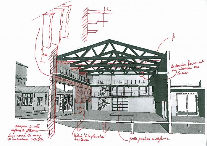 Réhabilitation des thermes d'Encausse en lieu de résidence pour les arts publics : ENCAUSSE COUPE SALLE