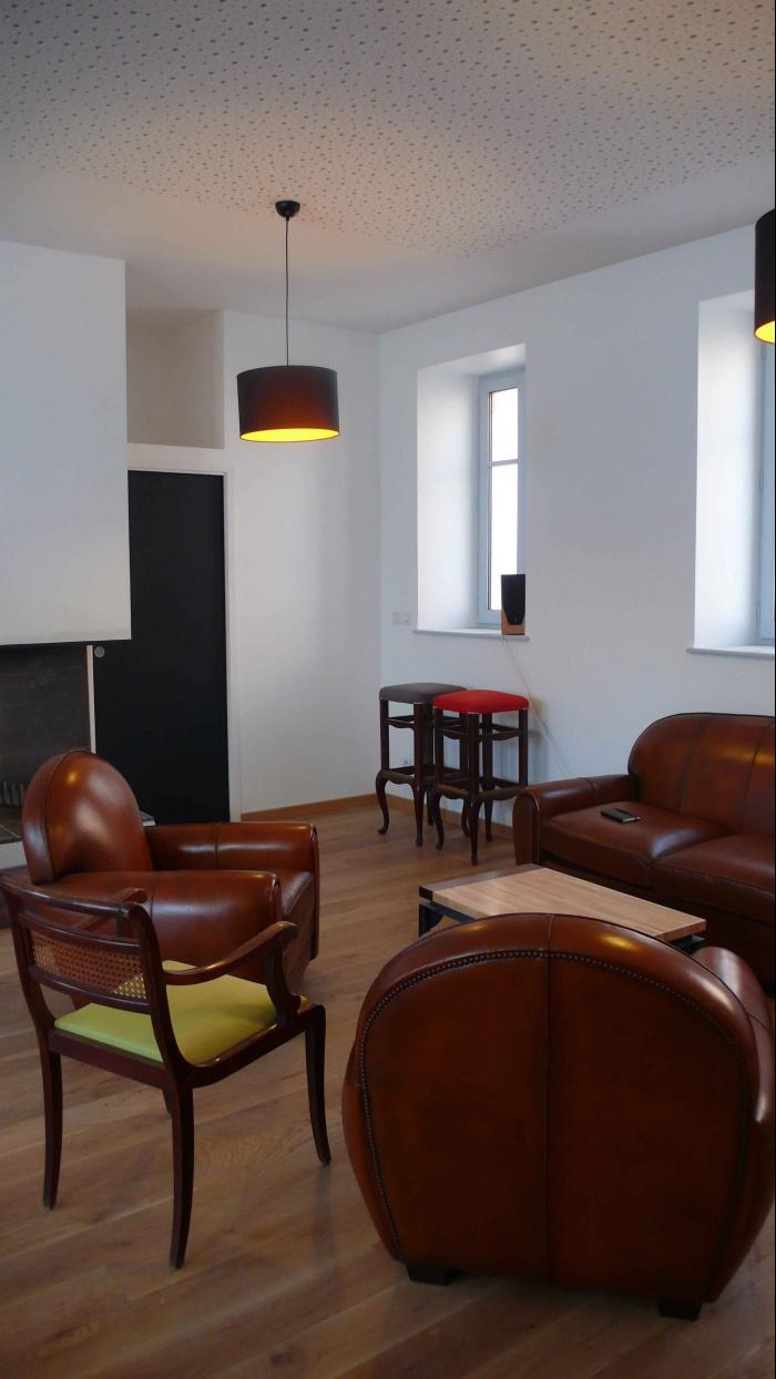 Réhabilitation des thermes d'Encausse en lieu de résidence pour les arts publics : Salon 04