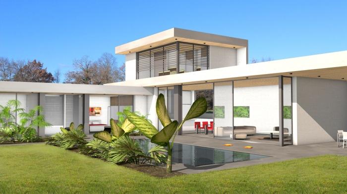 villa contemporaine int rieur ext rieur toulouse une r alisation de atelier sc nario. Black Bedroom Furniture Sets. Home Design Ideas