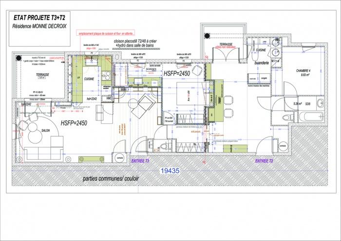Appartement L Tournefeuille : 2.DCE PLAN GENERAL D\'AMENAGEMENT D.02 copie