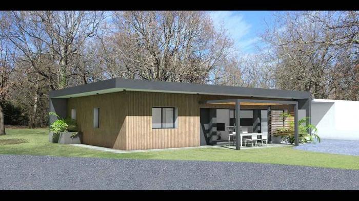 maison contemporaine d 39 architecte pour petit budget. Black Bedroom Furniture Sets. Home Design Ideas