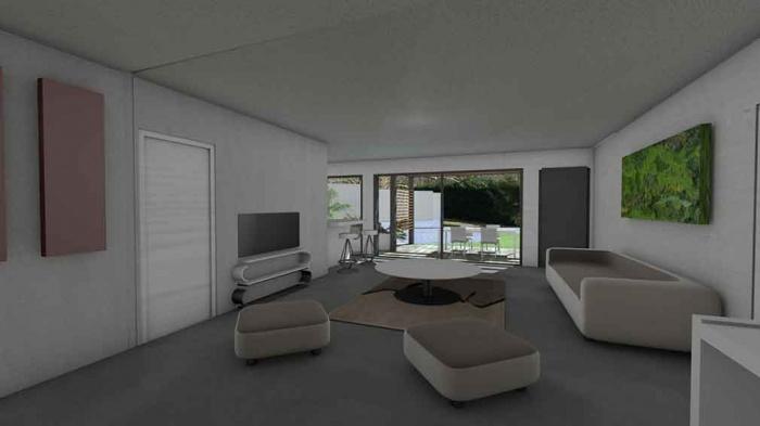 Maison contemporaine d'architecte pour petit budget : maison-contemporaine-economique-architecte-toit-terrasse-bois-5