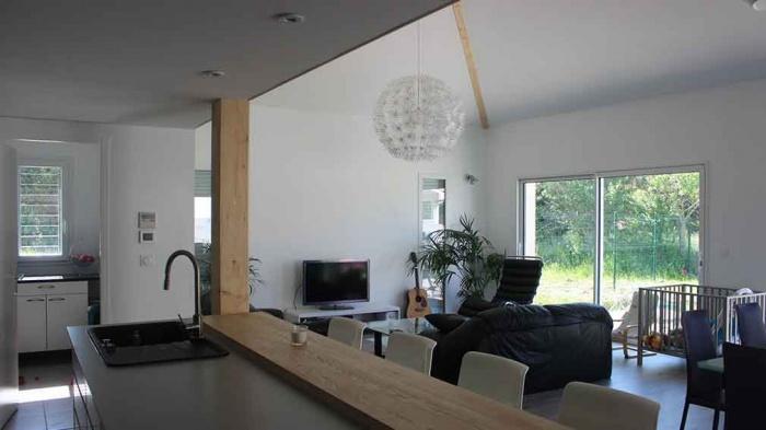 construction maison avec mezzanine et vide sur sejour - Maison Plain Pied Avec Mezzanine