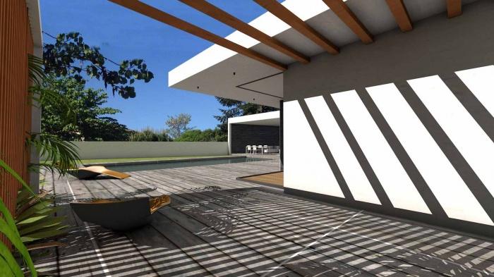 Maison contemporaine à parement en pierres noires : maison-contemporaine-architecte-pierres-noires-baie-galandage-toulouse-17