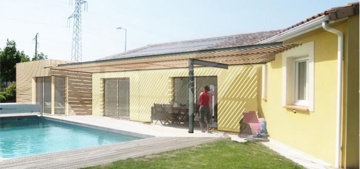 architectes extension en ossature bois saubens. Black Bedroom Furniture Sets. Home Design Ideas