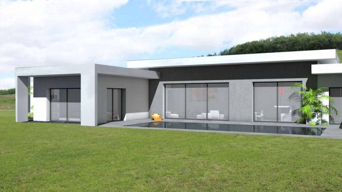 Architectes maison contemporaine en c toit terrasse v g tali - Toit terrasse vegetalise ...
