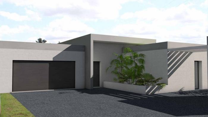 maison contemporaine en c toit terrasse v g talis bessi res une r alisation de atelier. Black Bedroom Furniture Sets. Home Design Ideas
