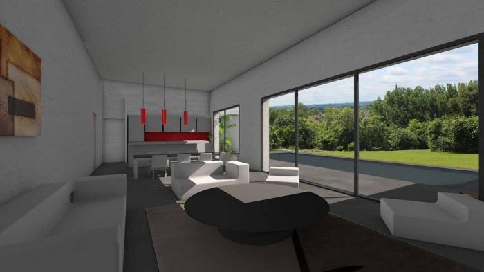 Architectes maison contemporaine en c - Baie vitree pour toiture ...