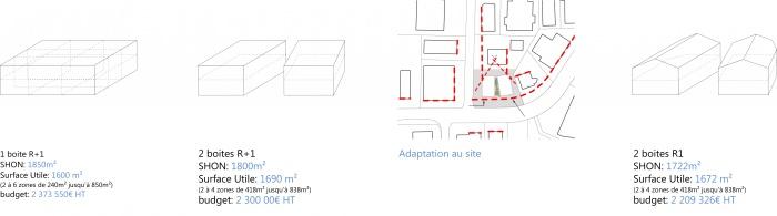 Bureaux Spatiale : 1103-Schema surface
