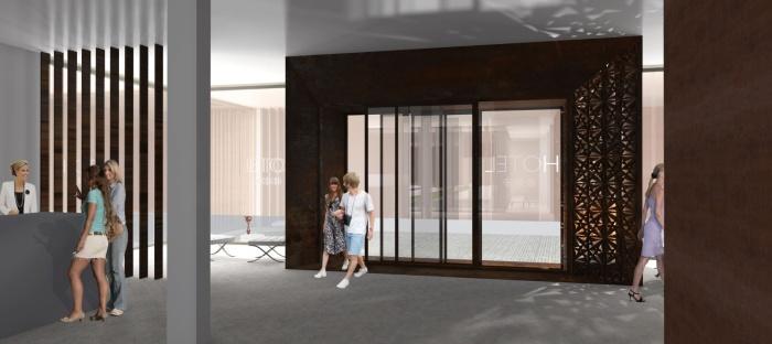 Transformation d'un bâtiment de bureaux en Résidence Hôtelière à Albi : Pers hall.JPG