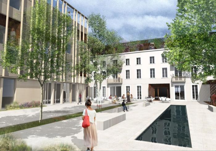 Transformation d'un bâtiment de bureaux en Résidence Hôtelière à Albi : Pers jardin.JPG