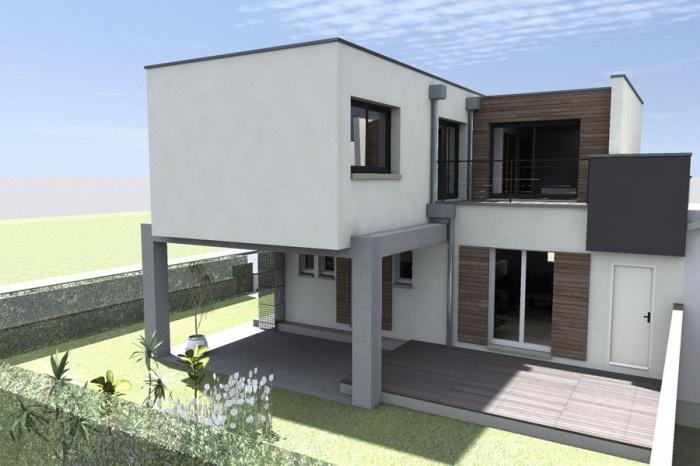 architectes sur l vation pour une maison individuelle albi. Black Bedroom Furniture Sets. Home Design Ideas