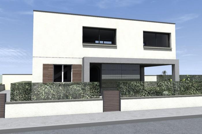 Surélévation pour une maison Individuelle : Bousquet-EXT Route_2.jpg