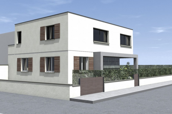 Surélévation pour une maison Individuelle : Bousquet-EXT Route_4.jpg