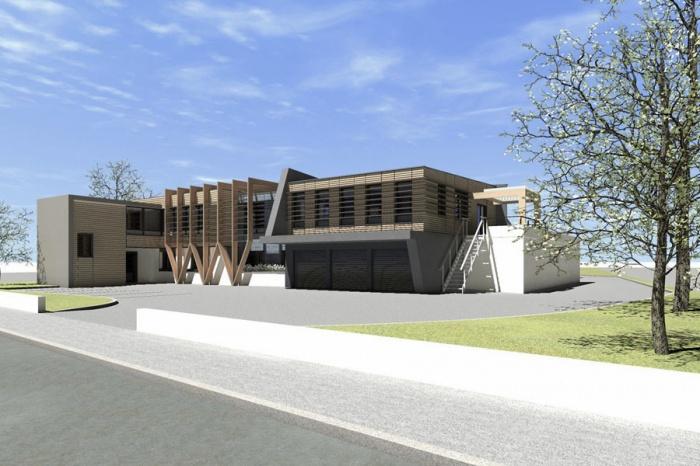 architectes extension sur l vation de bureaux albi. Black Bedroom Furniture Sets. Home Design Ideas
