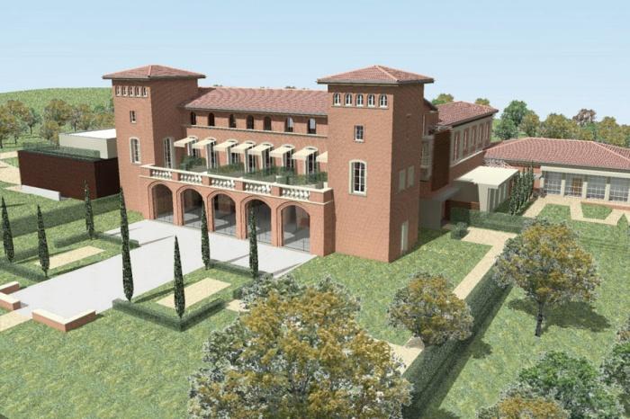 Transformation d'un château en hôtel de luxe : 489-Château Armurier-Jardin 2
