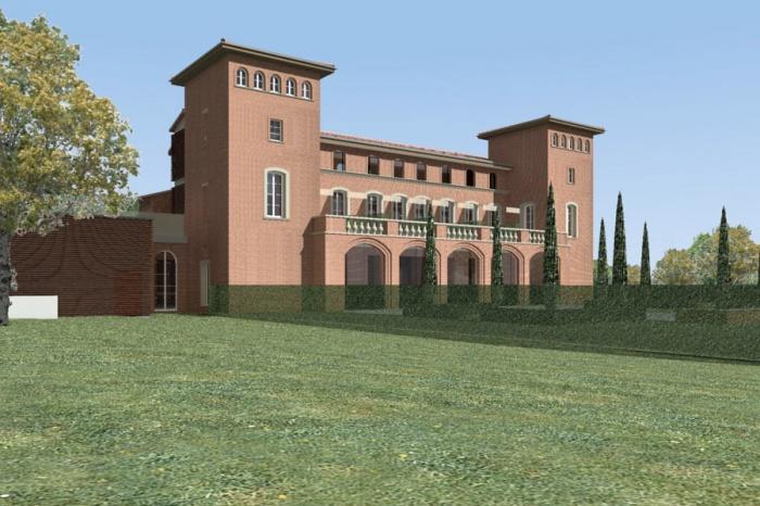 Transformation d'un château en hôtel de luxe : 489-Château Armurier-Jardin 1