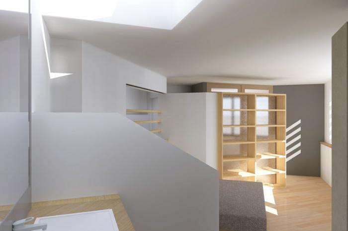 Surélévation pour une maison de ville : Boisard-INT ETAGE CH_3